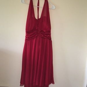 Red Knee-Length Formal Dress